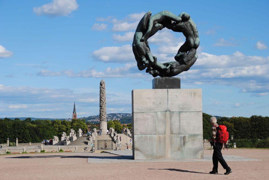 Der neue Stefan Kübler und der Vigelandspark in Oslo.