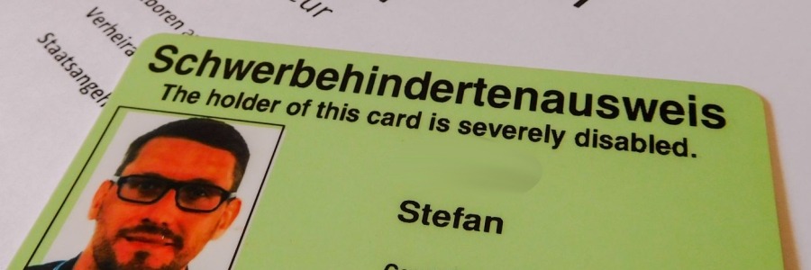 Der neue Stefan und sein Schwerbehindertenausweis