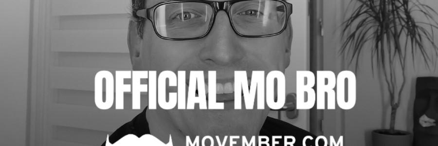 Der neue Stefan Kübler und das Motto und Logo von Movember.